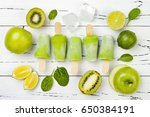 detox  healthy green smoothie... | Shutterstock . vector #650384191