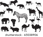 animal collection | Shutterstock . vector #65038906
