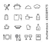 set of kitchen icons. vector... | Shutterstock .eps vector #650389975
