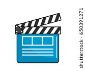 clapperboard to short film... | Shutterstock .eps vector #650391271