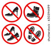 set of signs prohibiting... | Shutterstock .eps vector #650394499