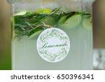 glass jar of fresh green... | Shutterstock . vector #650396341