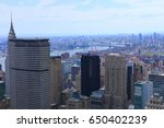 a city center view in midtown... | Shutterstock . vector #650402239