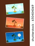three isolated photos with... | Shutterstock .eps vector #650404069