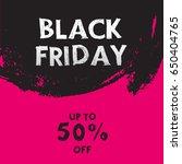 black friday sale banner  | Shutterstock .eps vector #650404765