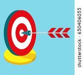 isometric goal icon. flat... | Shutterstock .eps vector #650406055