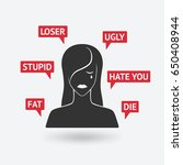 cyberbullying concept.... | Shutterstock .eps vector #650408944