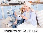 grandmother and granddaughter... | Shutterstock . vector #650411461