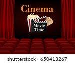 movie cinema poster design.... | Shutterstock .eps vector #650413267
