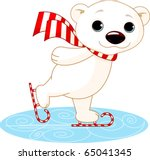 Illustration Of Cute Polar Bea...