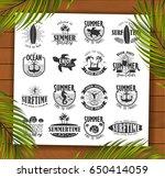 summer typography design... | Shutterstock .eps vector #650414059