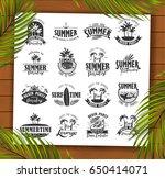 summer typography design...   Shutterstock .eps vector #650414071