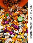 halloween candies | Shutterstock . vector #650417437