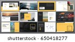 original presentation templates ... | Shutterstock .eps vector #650418277