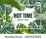 landscape frame  realistic full ... | Shutterstock .eps vector #650422681