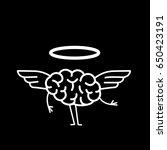 Angel Brain. Vector Concept...