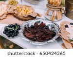 salty and cheese bar of several ... | Shutterstock . vector #650424265