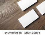photo of blank business cards... | Shutterstock . vector #650426095