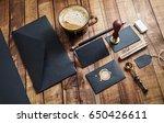 set of black stationery... | Shutterstock . vector #650426611