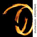 night performance orange flames  | Shutterstock . vector #650429641