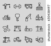 lift icons set. set of 16 lift...   Shutterstock .eps vector #650438497