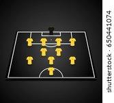 football  soccer  3d starting... | Shutterstock .eps vector #650441074