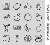 diet icons set. set of 16 diet... | Shutterstock .eps vector #650451931
