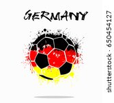 Abstract Soccer Ball Painted In ...