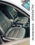 leather interior of car | Shutterstock . vector #650456794