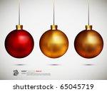 shiny christmas balls   vector... | Shutterstock .eps vector #65045719
