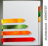 notebook with bookmarks   eps10 ... | Shutterstock .eps vector #65045737
