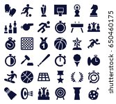 competition icons set. set of... | Shutterstock .eps vector #650460175