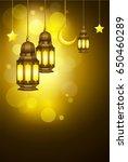 ramadan kareem greeting card...   Shutterstock . vector #650460289