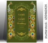 wedding invitation card...   Shutterstock .eps vector #650460424
