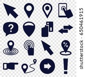 point icons set. set of 16... | Shutterstock .eps vector #650461915