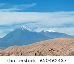 licancabur is a volcano located ...   Shutterstock . vector #650462437
