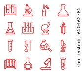 lab icons set. set of 16 lab... | Shutterstock .eps vector #650462785