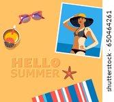vector background template for... | Shutterstock .eps vector #650464261