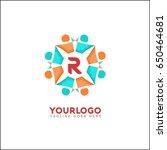 r letter social relationship... | Shutterstock .eps vector #650464681