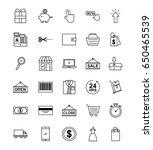 online shopping icons set | Shutterstock .eps vector #650465539