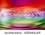 colorful ripple background | Shutterstock . vector #650466169