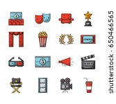 icons set movies | Shutterstock .eps vector #650466565