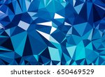 abstract low poly background ... | Shutterstock . vector #650469529