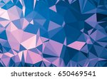 abstract low poly background ... | Shutterstock . vector #650469541