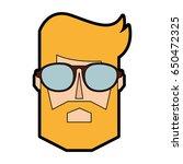 blond man face cartoon | Shutterstock .eps vector #650472325