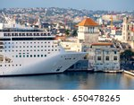 cruise ship docked at the old... | Shutterstock . vector #650478265