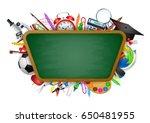back to school background ...   Shutterstock .eps vector #650481955