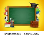 back to school colorful  vector ... | Shutterstock .eps vector #650482057