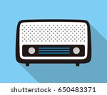 old radio flat fashion icon... | Shutterstock .eps vector #650483371