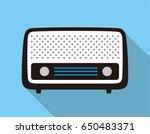 old radio flat fashion icon...   Shutterstock .eps vector #650483371